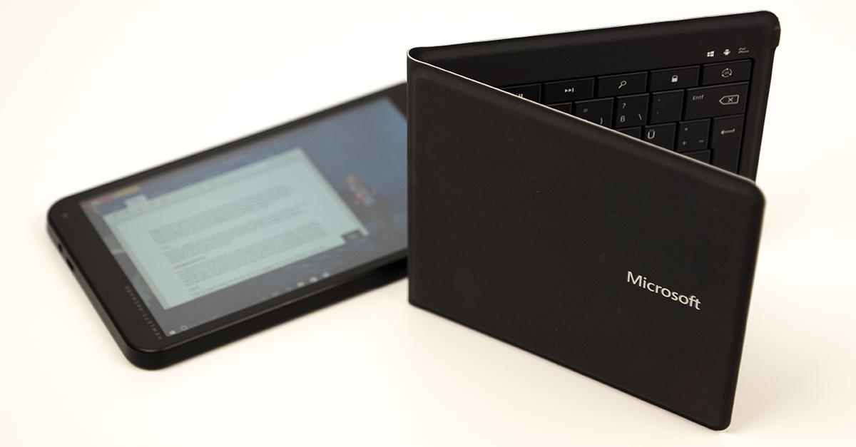 Test: Microsoft Universal Foldable Keyboard – die Immer-dabei-Tastatur