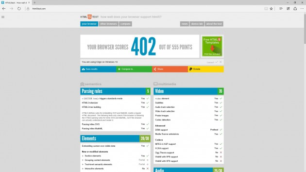 HTML5Test Edge