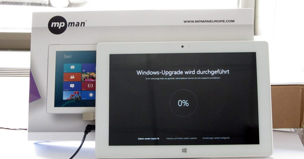 So könnt Ihr Tablets auf Windows 10 updaten – Teil I – Tablets mit 16 GB Flash