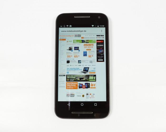 Motorola Moto G3 Browser