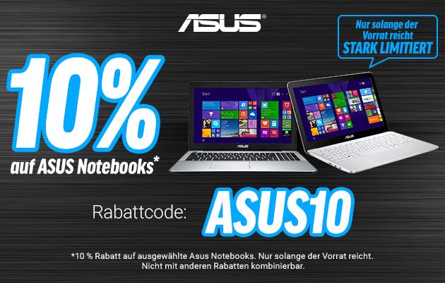 10 Prozent auf ausgewählte Notebooks von ASUS