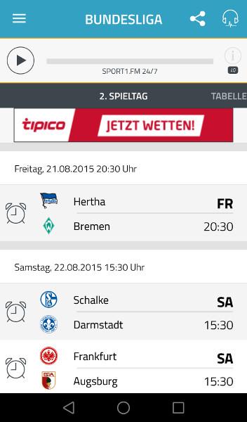 sport1.fm Screenshot