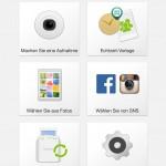 Die Oberfläche der instax-Share-App (alle Bilder iOS)