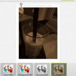 Filter bietet die App nur drei an.