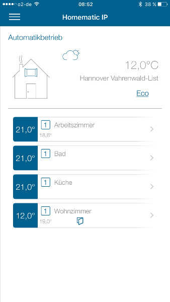 HomeMatic IP App geoeffnetes Fenster