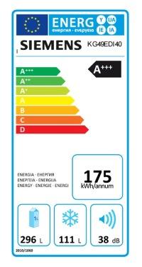 Das EU-Energielabel zeigt wie effizient das Kühlgerät arbeitet