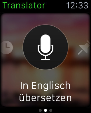 Microsoft Translator auf Apple Watch