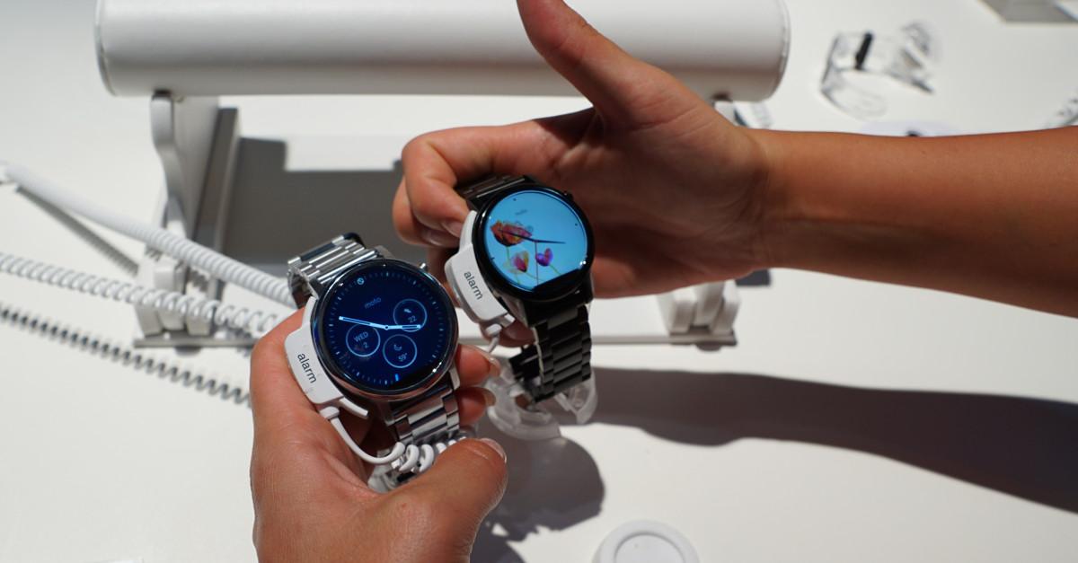 IFA 2015: Motorola Moto 360 Smartwatch-Trio von Lenovo (mit Hands-on)
