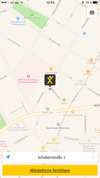 Screenshot myTaxi