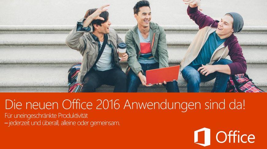 Microsoft Office 2016 ab sofort auch für Windows verfügbar