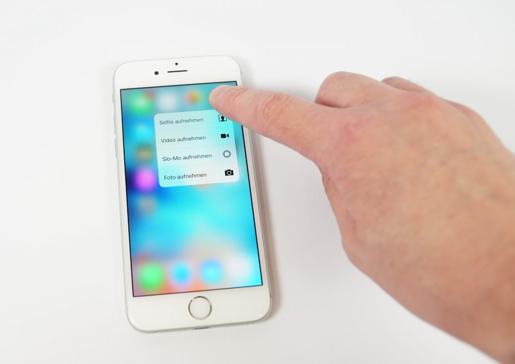 3D Touch Quick Actions Kamera