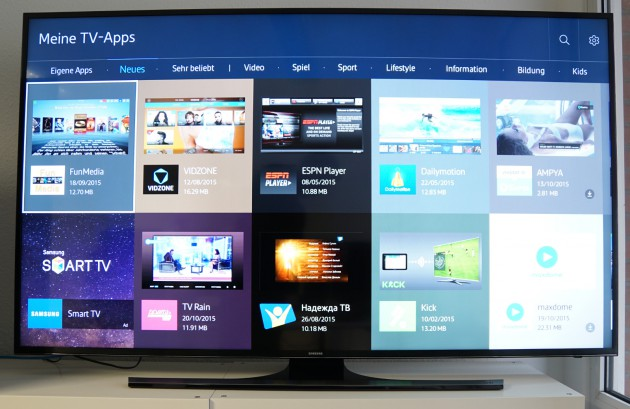 65 Zoll TV Test Smart-TV Samsung