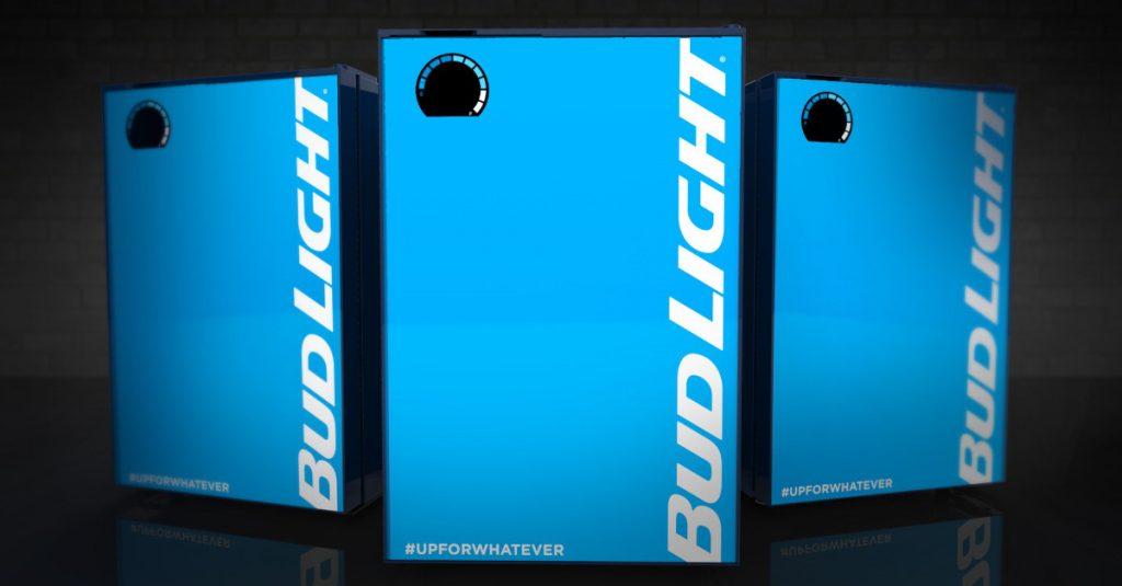 Bud Light e-Fridge Kühlschrank bestellt selbstständig Bier