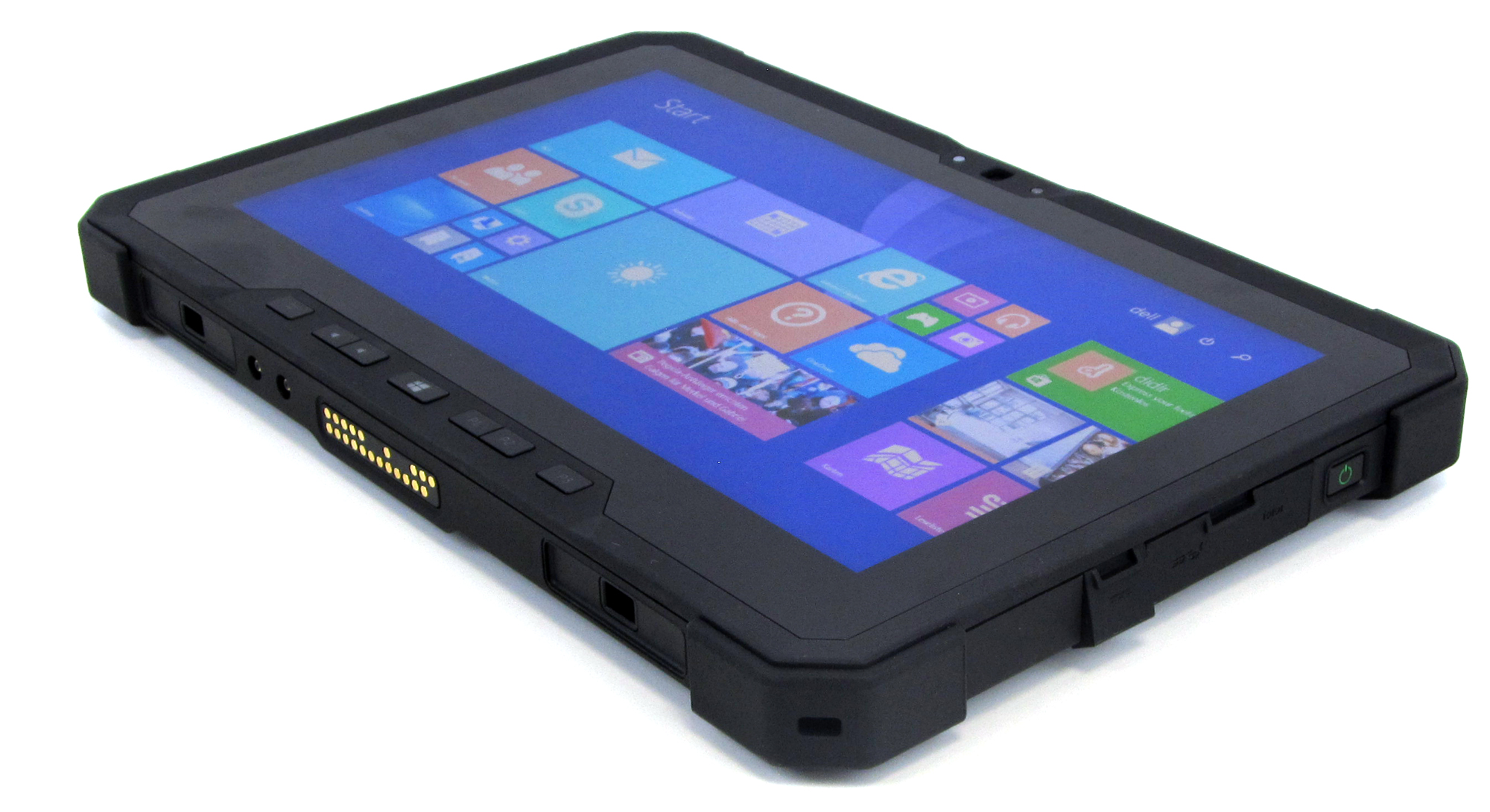 latitude 12 rugged tablet von dell mit wechselbaren akkus. Black Bedroom Furniture Sets. Home Design Ideas