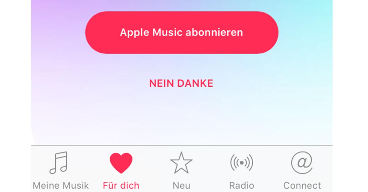apple music verlinkung in der ios app musik deaktivieren. Black Bedroom Furniture Sets. Home Design Ideas