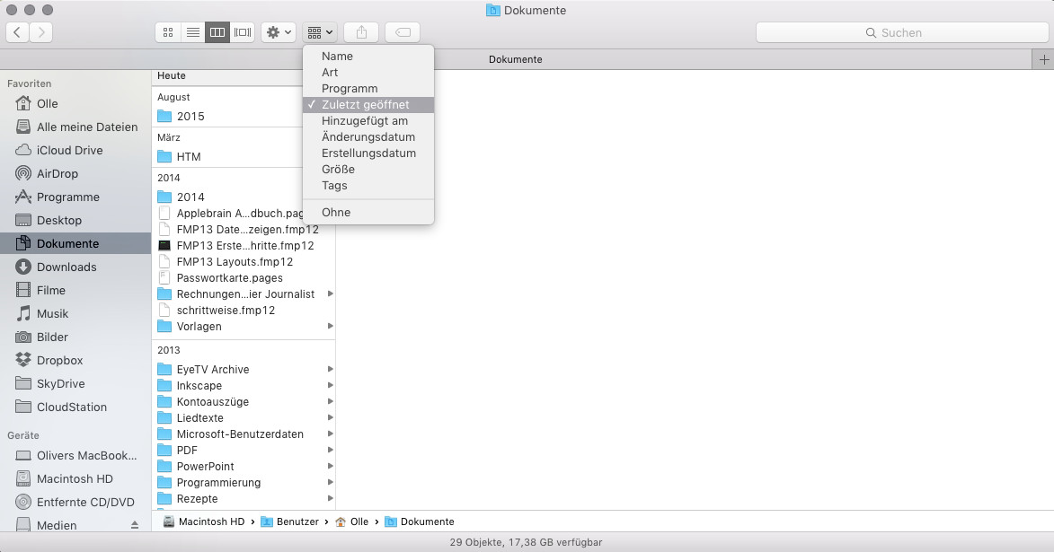 Mac aufraeumen Alte Dateien archivieren