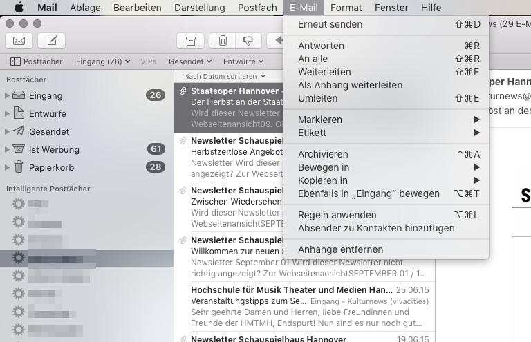 Mac aufraeumen Mail-Anhaenge entfernen