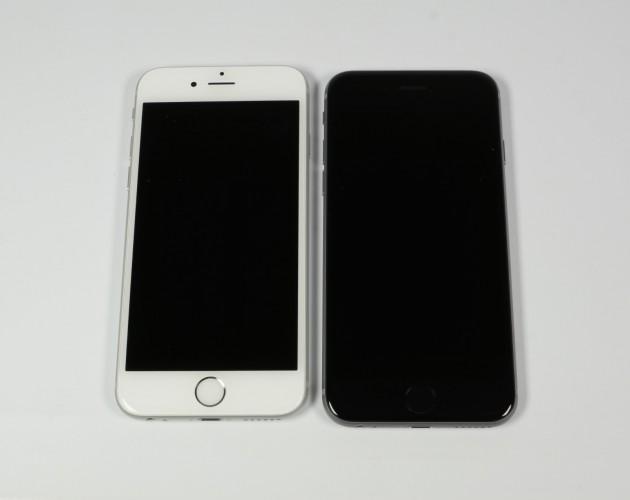 Test iPhone 6s Frontansicht Weiss und Schwarz