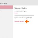 Bei Windows Update zu den Erweiterten Optionen gehen.