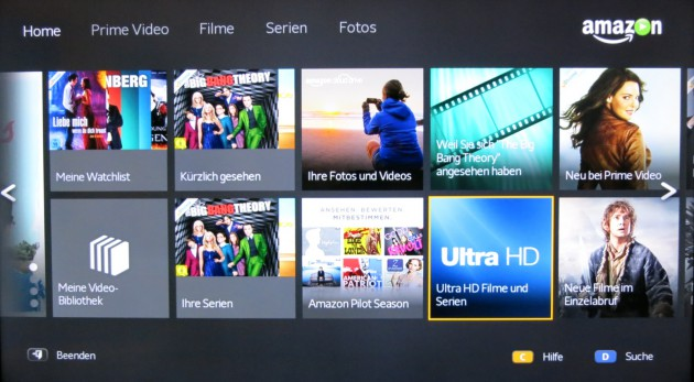 Amazon Instant Video 4K-Rubrik