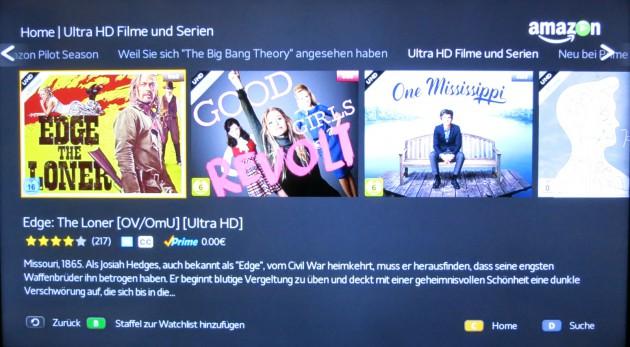 Amazon Instant Video 4K-Video