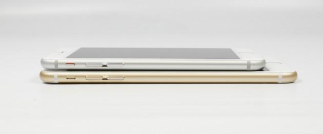 Apple iPhone 6s Plus Vergleich seitlich S6