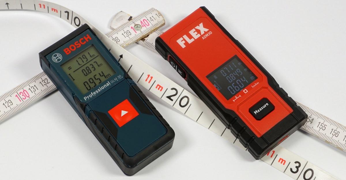 Günstige laser entfernungsmesser von bosch und flex im test