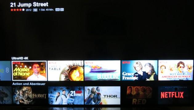 Netflix 4K-Rubrik