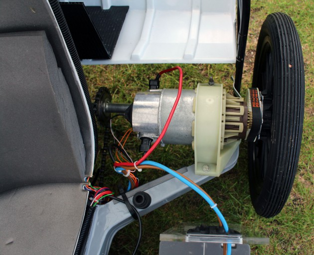 Der Elektromotor des Sinclair C5.