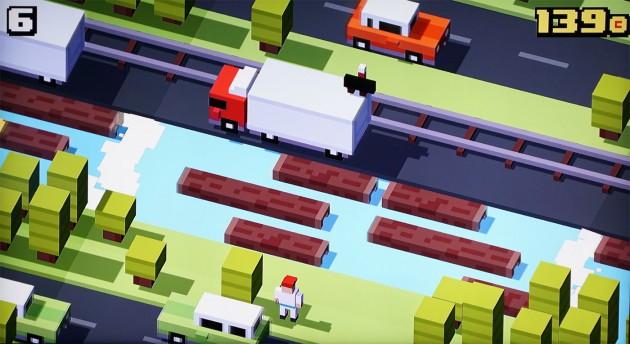 Crossy Road lässt sich auch zu zweit spielen, als zusätzlicher Controller lässt sich ein iPhone verwenden.