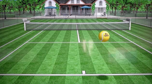 Simple Grafik, aber kurzfristig spaßig und eine gute Gelegenheit, mit der Remote zu fuchteln: Hit Tennis 3.