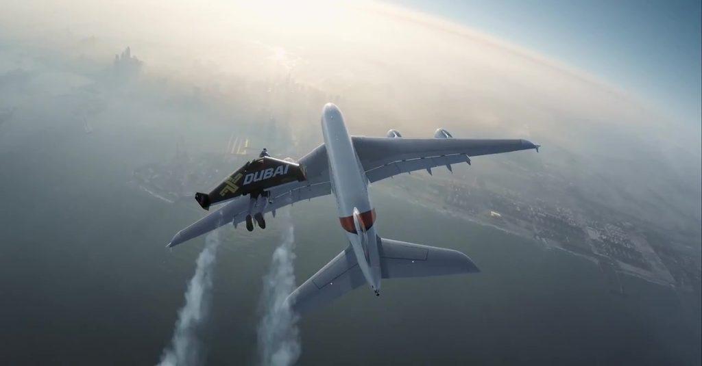 Video: Mit dem Jetpack neben dem Airbus A380