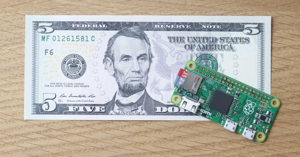 Der Raspberry Pi Zero kostet lediglich 5 US-Dollar