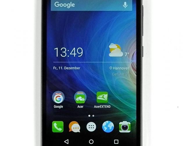 Das Acer Liquid Z630 besitzt ein äußerst kontrastreiches Display.