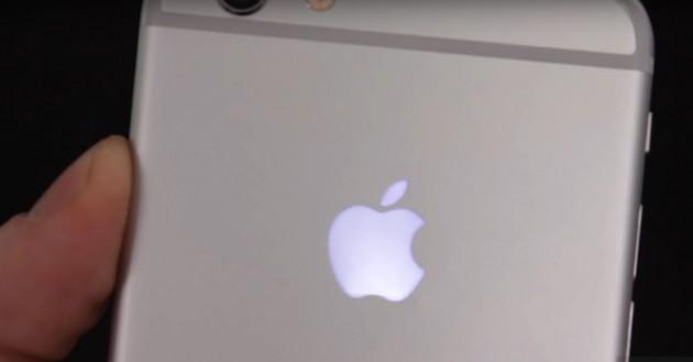 Apple Leucht-Logo