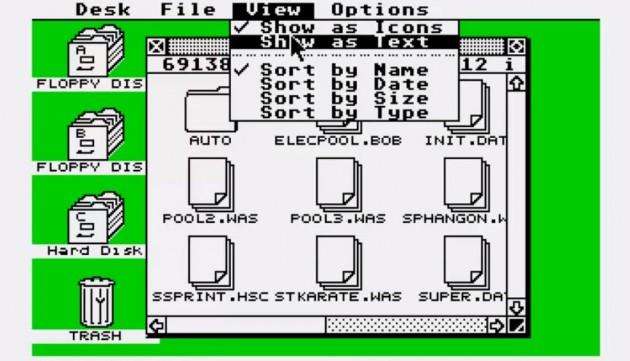 Nur echt mit Biene: Das Atari-Betriebssystem TOS, das auf GEM aufsetzt.