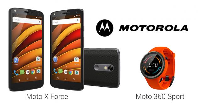 Moto x force - Moto 360 sport
