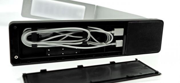 Mit dem magnetischen Ladekabel der Apple Watch wird es eng im MiTagg NuDock.