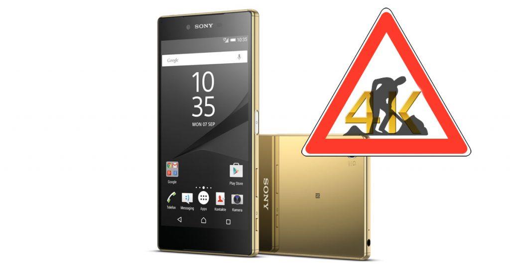 Baustelle 4k-Display – Sony Xperia Z5 Premium mit 4K-UHD-Display im Test