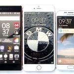 Z5 Premium, Apple iPhone 6s Plus, Samsung S6 Edge