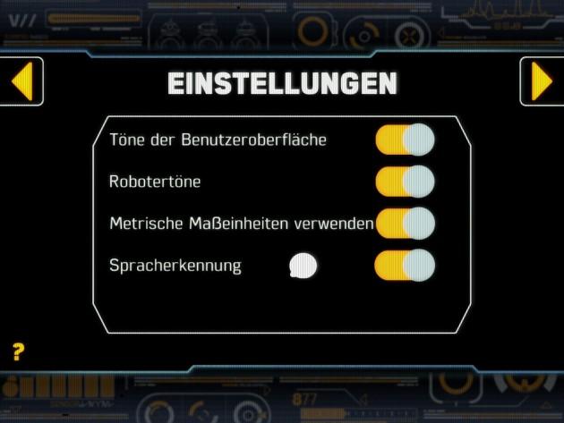 Einstellungen gibt es in der App zum Sphero BB-8 nur wenige.