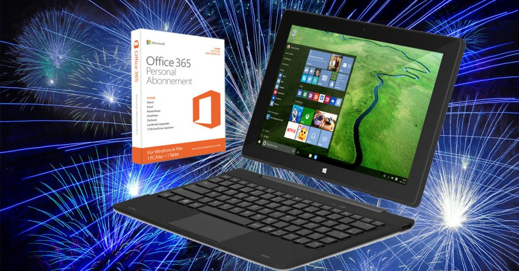 Silvesterknaller: TrekStor SurfTab twin 10.1 2in1 Tablet + Office 365 im Kurztest