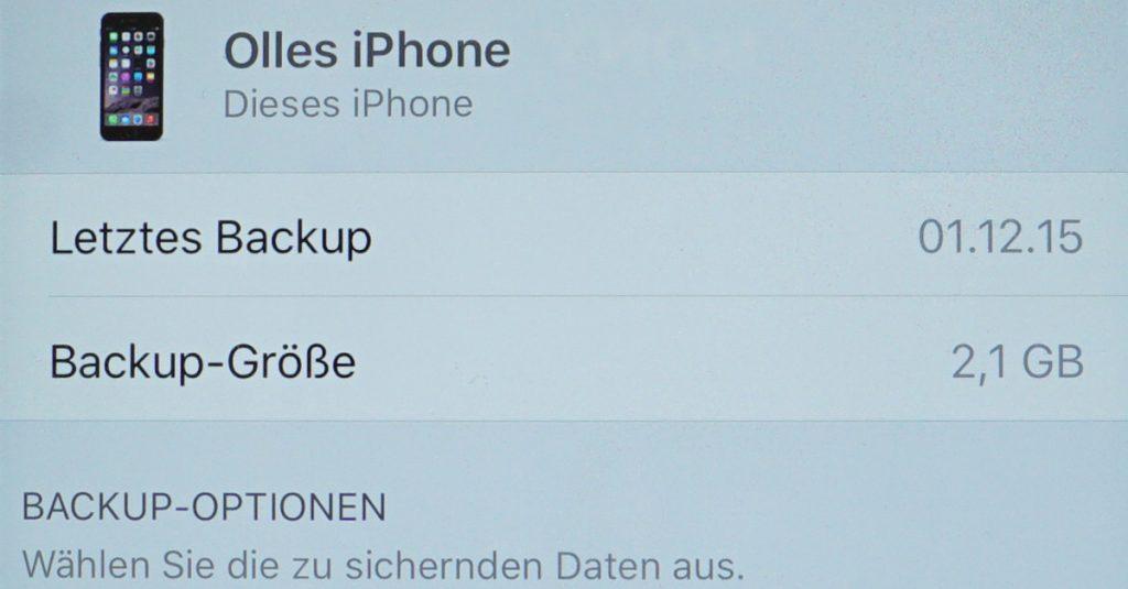 Sicher ist sicher: iCloud-Backup für Apple iPhone und iPad