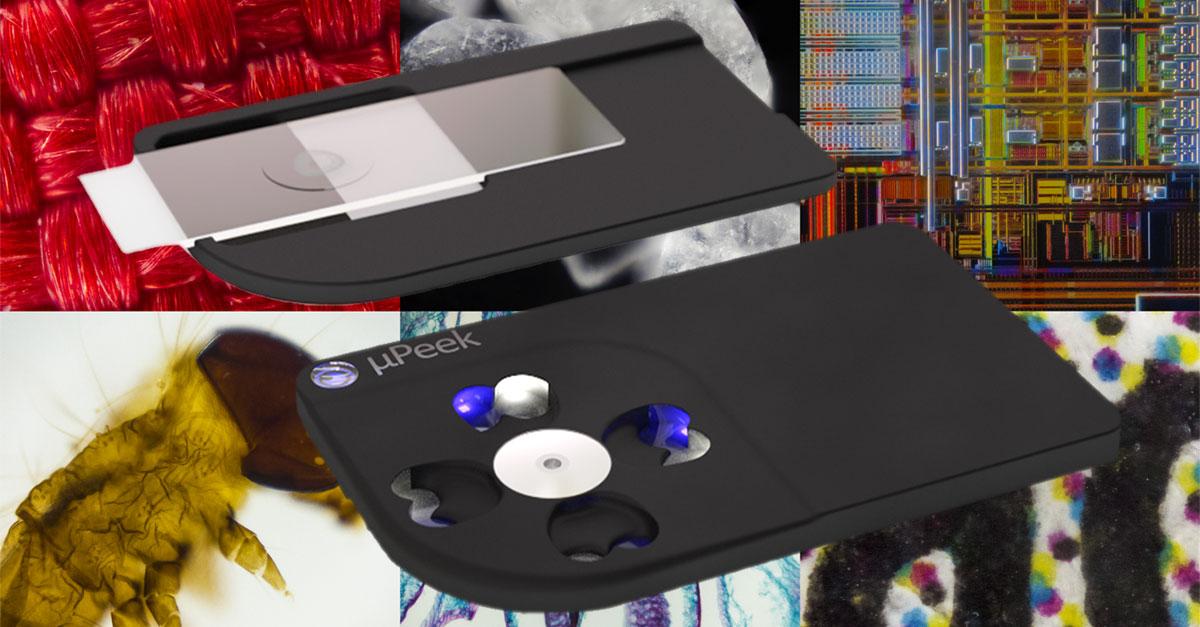 µpeek mobiles mini mikroskop für smartphones