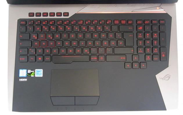 Asus G752VY-GC087T Tastatur