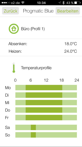 EUROtronic sparmatic ZERO Heizkoerperthermostat App Uebersicht