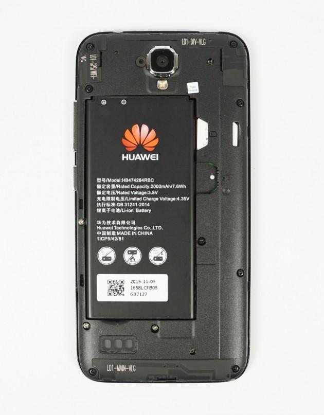 Huawei Y5 Rueckseite offen