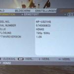 NEC U321h Settings-Info