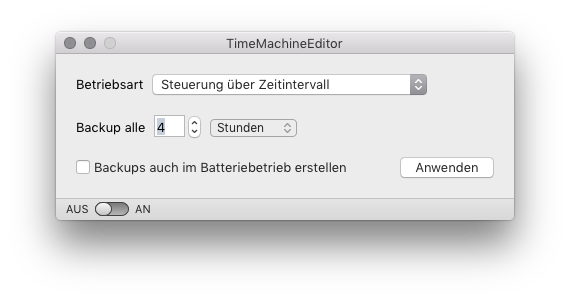 Schneller Mac Time Machine Editor