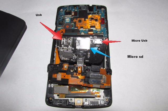 Bastler baut sich einen microSD Slot in sein Nexus 5